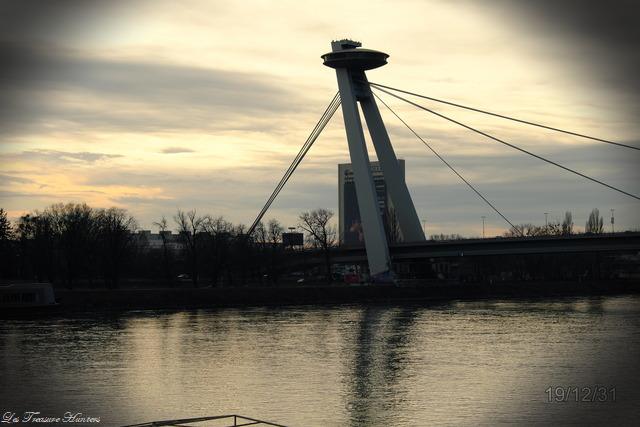 Travel Bratislava, Slovakia: UFO Bridge