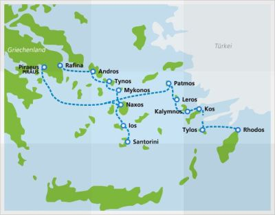 Ferry for Greek islands