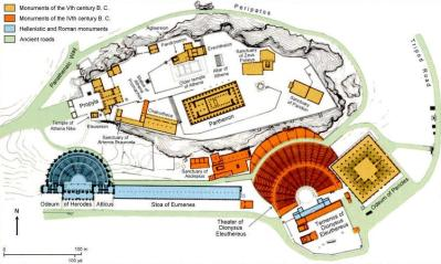 map of acropolis