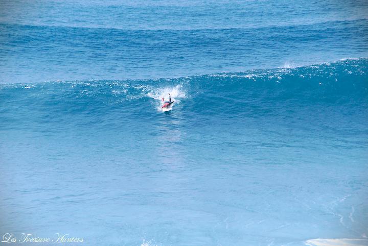 Surfing in Madeira.