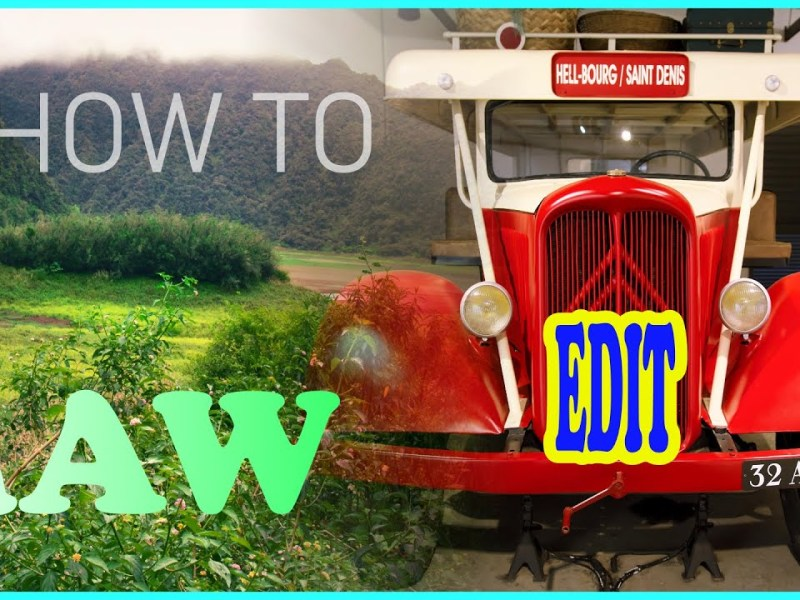 How to edit Raw